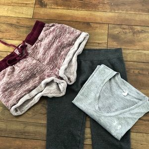 3-piece activewear set.